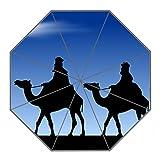 Kundenspezifischer faltbarer Umbrella Diy personifizierter Das Kamel in der W¨¹ste Entwurfs-beweglicher Reise-Regenschirm f¨¹r Sonne und Regen