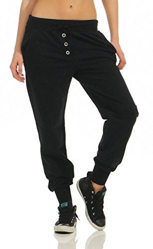 Damen Freizeithose Sporthose Sweat Pants lang (623), Grösse:M / 38, Farbe:Schwarz