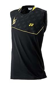 Yonex 10000LDEX Lin Dan Performance Sleeveless T-Shirt, Men's XX-Large (Black)