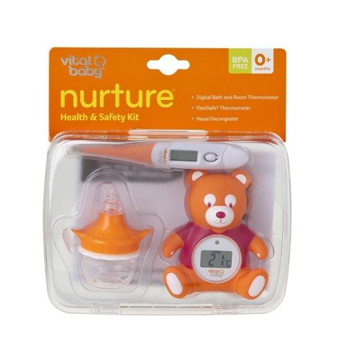 Vital Baby Hygiene- und Gesundheitsset mit Raumthermometer, Nasenaspirator und Thermometer - 2