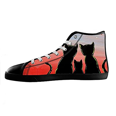 Custom Cartoon Katze Men's Canvas shoes Schuhe Lace-up High-top Sneakers Segeltuchschuhe Leinwand-Schuh-Turnschuhe