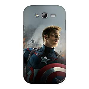 Neo World War Ready Shield Man Back Case Cover for Galaxy Grand Neo