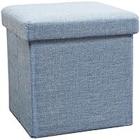Preisvergleich für Folding Storage Seat Bench- Faltbare Tuch Lagerung Hocker Multifunktionale Aufbewahrungsbox mit Deckel Spielzeug Aufbewahrungsbox Haushalt Sofa Hocker 30 cm × 30 cm × 30 cm Home Decor (Farbe : Blau)