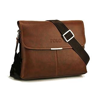 41e6XmHZghL. SS324  - Maod Cuero suave Bolso Mensajero del Bandoleras Hombre vintage maletin portatil Color Sólido bolso negocio Maletín Clásico para trabajo