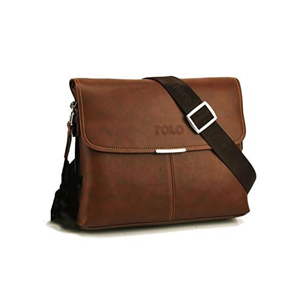 41e6XmHZghL. SS600  - Maod Cuero Suave Bolso Mensajero del Bandoleras Hombre Vintage maletin portatil Color Sólido Bolso Negocio Maletín…