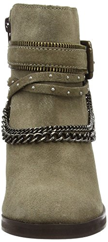 New Look Crowded Lea Chain Western, Bottes Motardes femme Marron - Marron clair