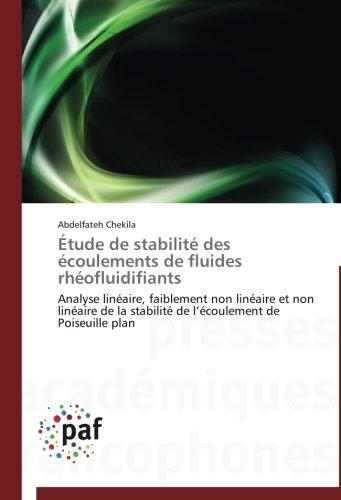 Étude de stabilité des écoulements de fluides rhéofluidifiants