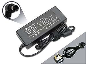 seulement les ordinateurs portables Sony Vaio Vpcs11X 9E/B (19,54.7A 90W max) adaptateur chargeur d'alimentation Compatible avec cordon d'alimentation et 1-yr Garantie