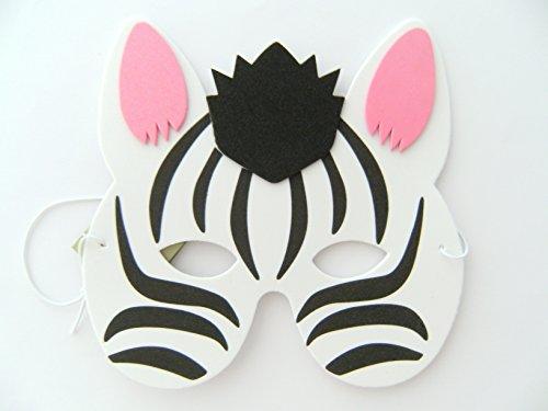 rgeburtstag Karneval Fasching Tier Tiere Masken Theater Zoo Zebras ()