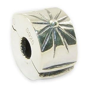 Andante-Stones 925 Sterling Silber Bead Clip Stopper – Element Kugel für European Beads Modul Armband + Organzasäckchen