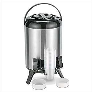 Relaxdays Distributeur de boissons Récipient pour vin chaud Pichet pour maintenir la boisson au chaud avec 2 robinets env. 9 litres