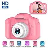 Volwco Macchina Fotografica per Bambini, 1080P Fotocamera Digitale Portatile Digital Camera Mini Digital Camera Kids Videocamera Regalo di Compleanno per Bambini Rosa