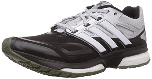 adidas Men's Response Boost Techfit M Black, White and Solar Red Running Shoes - 6 UK  available at amazon for Rs.6999