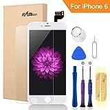 FLYLINKTECH Für iPhone 6 Display Weiß, LCD 3D Touchscreen Digitizer Assembly mit Werkzeuge und Displayschutzfolie Für iPhone 6 Weiß 4.7