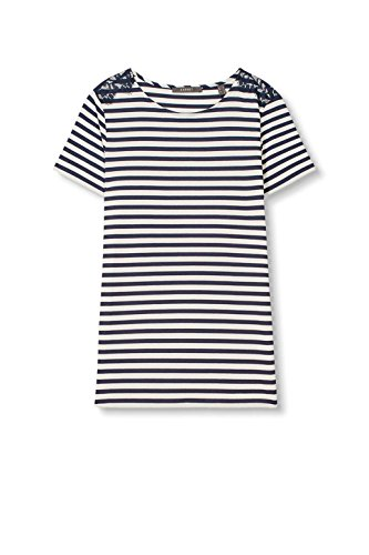ESPRIT Collection Damen T-Shirt 027eo1k026 Blau (Navy 400)