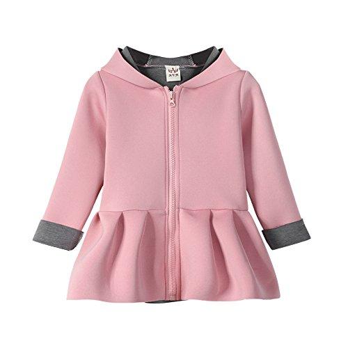 (Kleider Kinderbekleidung Honestyi Kind Baby Mädchen Herbst Winter Kaninchen Weste Hoodie Mantel Warme Outwear Kleidung (Roas,85))