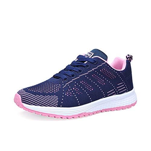 Light-36 (Orktree Damen Sneaker Fitness Laufschuhe Sportschuhe Schnüren Running Schuhe Herren Ultra-Light Turnschuhe, Violett, 36 EU)
