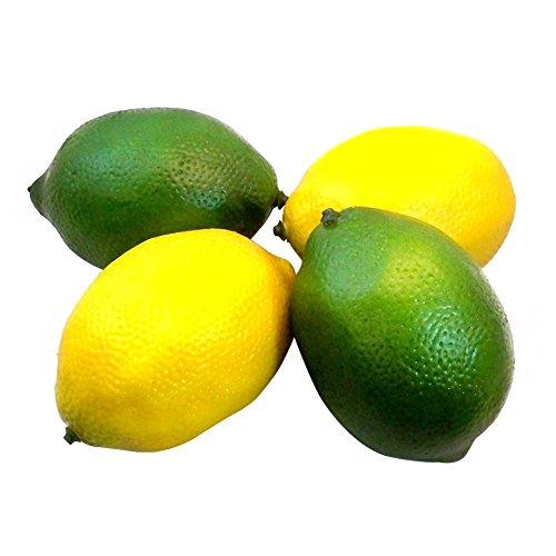 Künstliche Zitronen/Limetten, Theaterrequisiten, Obst für Wohn-/Partydekoration, 4 Stück 1# (Künstliche Limetten Und Zitronen)