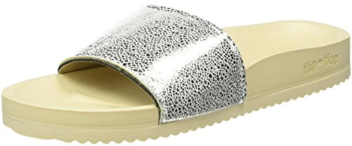 flip*flop Pool Metallic Cracked, Mules Femme Argent  (Silver 906 )
