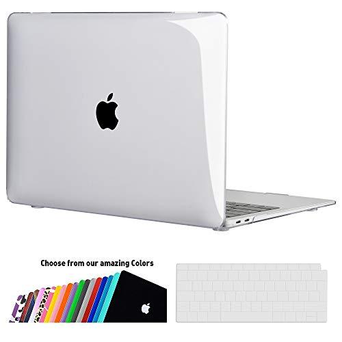 iNeseon MacBook Air 13 Hülle Case 2018, Ultradünne Hartschale Cover Schutzhülle + Tastaturschutz Apple MacBook Air 13.3 Zoll mit Retina Display Touch ID Modell A1932, Transparent
