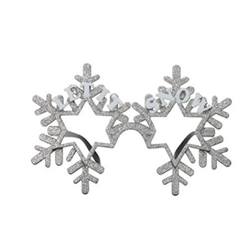OULII Weihnachten Party Brillen Schneeflocken für Weihnachten X Mas Kostüm Kinder Mitgebsel ()