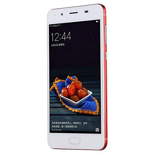 "Teléfono Inteligente Xinan 5"" Ultrathin Smartphone Android5.1 Quad-Core 2G + 8G 4G / gsm WiFi Bluetooth Cámara Dual SIM Dual Teléfono Celular Inteligente (☆Rojo)"