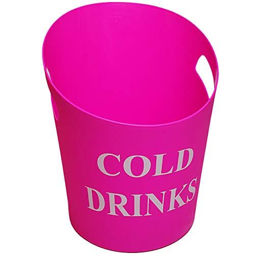 alles-meine.de GmbH großer XL - Eiseimer / Getränkekühler - Cold Drinks - ROSA - pink - 33 cm - 9 Liter - aus Kunststoff / Plastik - Sektkühler - Flaschenkühler - Weinkühler - Ge..