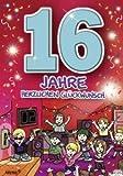 Archie Geburtstagskarte zum 16. Geburtstag Junge Mädchen lila Glückwunschkart...