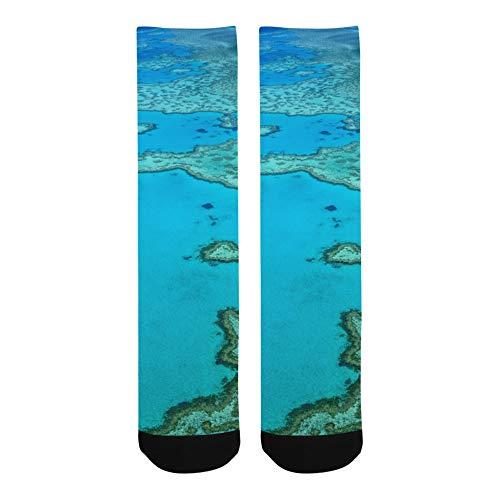 Australien Great Barrier Reef Coral Polyester Verrückte Warme Crew Fußball Kompression Kniehohe Kleid Hose Socke Für Männer Frauen Kinder Und Kleinkind Botts Schuhe Außenbereich Maschine Waschbar -