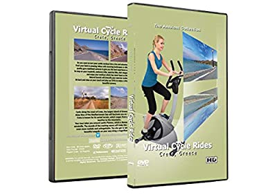Virtual Cycle Rides DVD - Crete, Greece - for Indoor Cycling, Treadmill and Exercise Workouts by The Ambient Collection