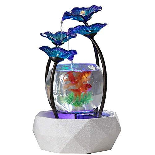 LJYLJY Kleine Glas Aquarium, Luftbefeuchter Keramik Basis, Schmiedeeisen Blume ZubehöR, Haushalt Wasser Ornamente, Haus Und BüRo Dekoration Handwerk