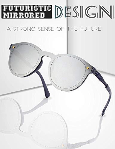 Tclothing Futuristische Rahmenlose Verspiegelte Gläser Sonnenbrille