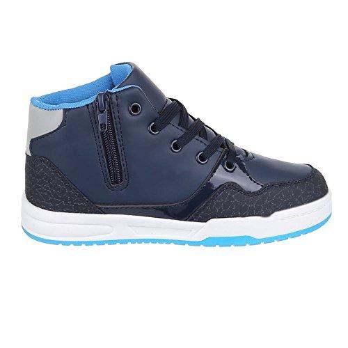 Kinder Schuhe, 1017, FREIZEITSCHUHE SNEAKERS Blau