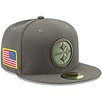 1a15f5eb4cc New Era NFL PITTSBURGH STEELERS Salute to Service 2017 Sideline 59FIFTY  Game Cap
