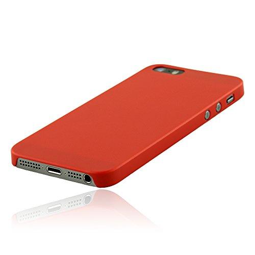 hardwrk ultra-slim Case für iPhone SE 5 5s - solid black - ultradünne Hülle für Apple iPhone in schwarz solid red