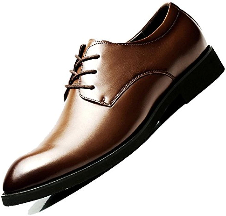 Zapatos De Cordones Clásicos De Negocios Para Hombres Derby Formal Zapatos De Cordones De Boda Negros Oxford Para... -