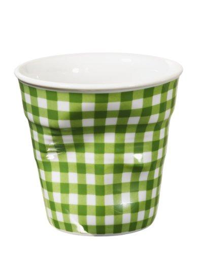 Revol Gobelet Froisse Espresso 8 Cl Blanc Vichy Vert