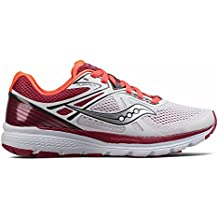 Saucony Women Swerve Neutral Running Shoe Running Shoes White - Red 5 675289d540d