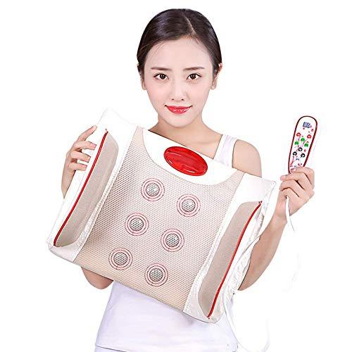 LIN HE SHOP Lendenmassagegerät, Rückenmassagekissen, Multifunktions-Fahrzeug-Lendenwirbel für zu Hause, Heizung Physiotherapie-Instrument