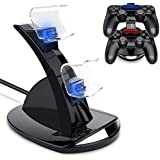 For Dualshock 4 Dual Micro USB Charging Dock Station Stand for Playstation 4 PS4 Slim Pro Controller Charger