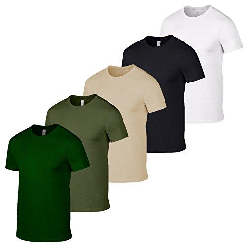 GILDAN 5 Pack British Army T shirt Colours Military Mens Tshirt Wholesale Camo Fishing