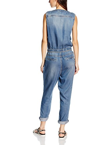 s.Oliver Damen Jumpsuits 14.604.85.4648, Blau (Blue Denim Stretch 55Z7), W32 (Herstellergröße: 42) - 2