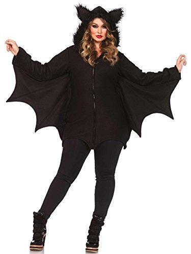 ubernde Fledermaus Halloween Plus-Size-Kostüm für Damen schwarz XXXL ()
