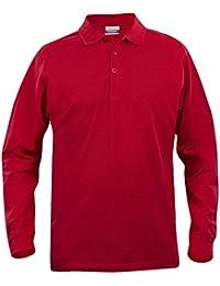 Polo de manga larga en algodón - Rojo, S