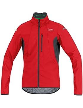 GORE BIKE WEAR Chaqueta para ciclismo, Hombre, Súper Ligera, GORE WINDSTOPPER, Talla M, rojo/negro, JELECO359904