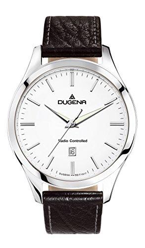 Dugena Men's Quartz Watch with Black Dial Analogue Display Quartz Leather 4460551