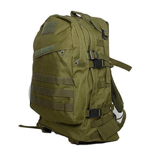 Outdoor Bergsteigen Tasche 40L3D Militär Tarnung Rucksack Klettern Wandern täglich Camping Taschen und Taschen ArmyGreen