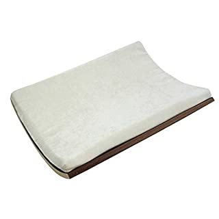 Akemi Tanaka Curve Wall-Mounted Cat Bed, Walnut/Cream