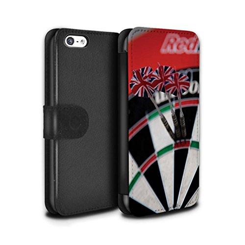 Stuff4 Coque/Etui/Housse Cuir PU Case/Cover pour Apple iPhone 5C / Tops/Double 20 Design / Fléchettes Photo Collection Aiguë 20/180