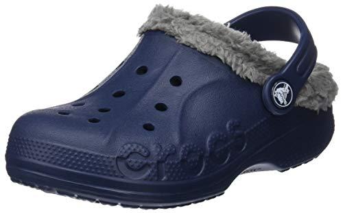 crocs Unisex-Kinder Baya Lined Kids Clogs, Blau (Navy/Smoke), 32/33 EU